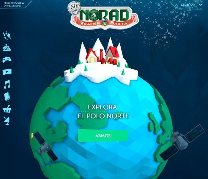 Aplicación para iOS y seguimiento de Papá Noel del NORAD