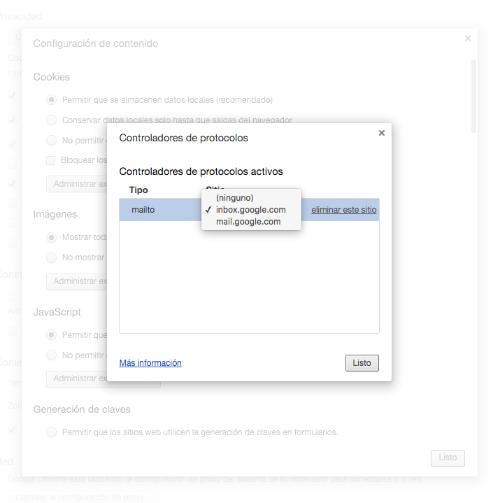 Cómo conseguir que Gmail sea el correo predeterminado en Chrome