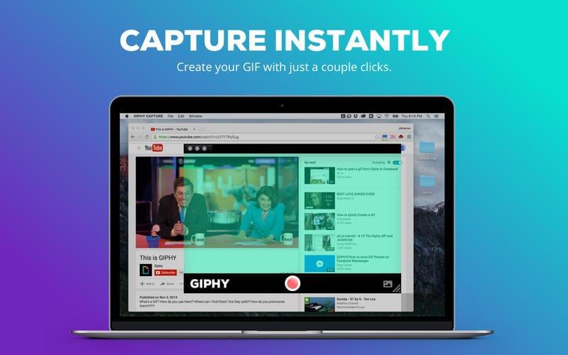Giphy Capture, la opción más sencilla para crear GIFs animados en Mac