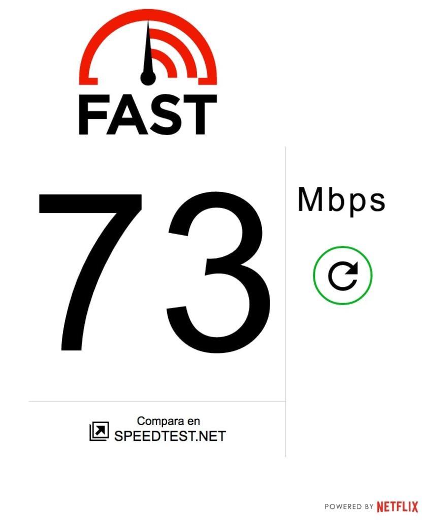 velocidad descarga internet con fast.com