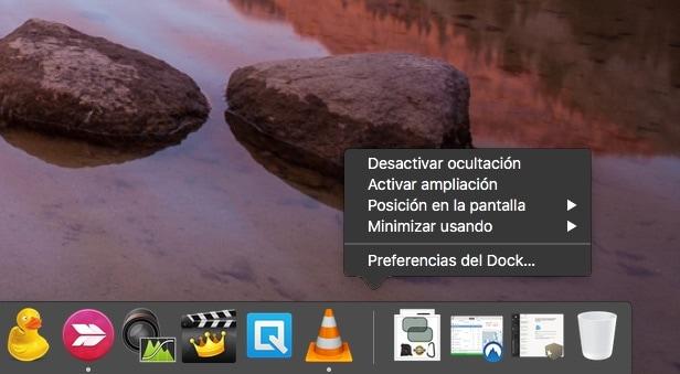 Cómo accedemos a las opciones del Dock de Mac Os X