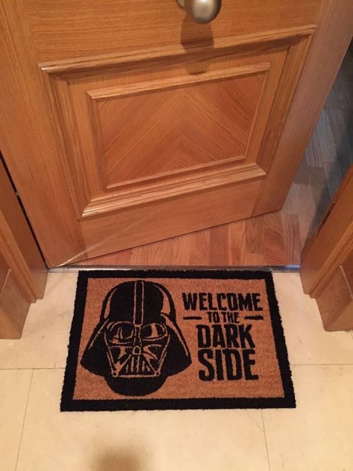 Si quieres entrar en mi casa, no pises mi felpudo de Star Wars