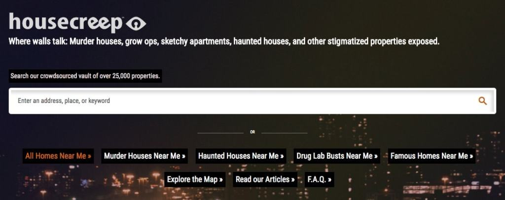 Housecreep: csaas con asesinatos y fantasmas en EEUU