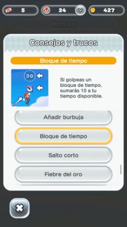 Tipos de saltos en Super Mario Run