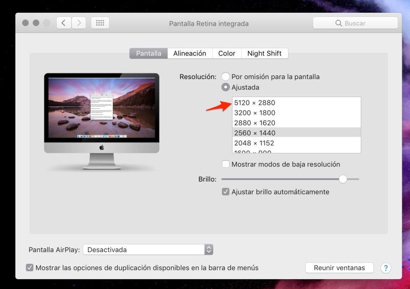 """resolución 5K en el iMac de 27"""""""