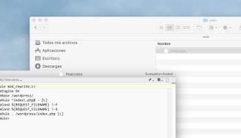 ¿Cómo puedes ver el archivo .htaccess de WordPress en MacOS?