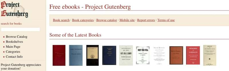 ebooks gratis en ingles para Kindle, iPad y eReaders en Project Gutenberg