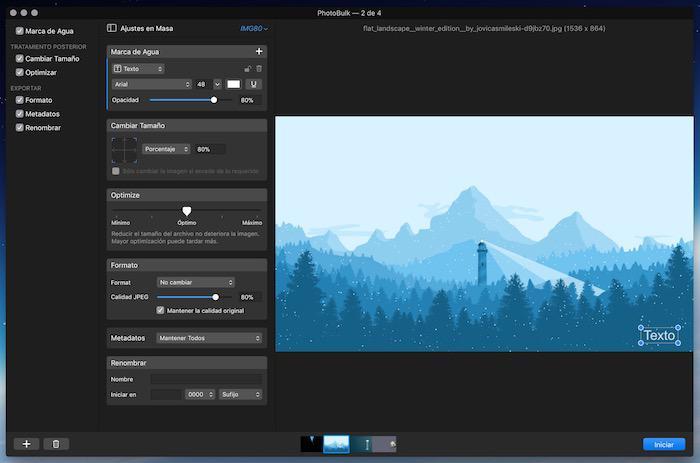 PhotoBulk: editor imagenes Mac
