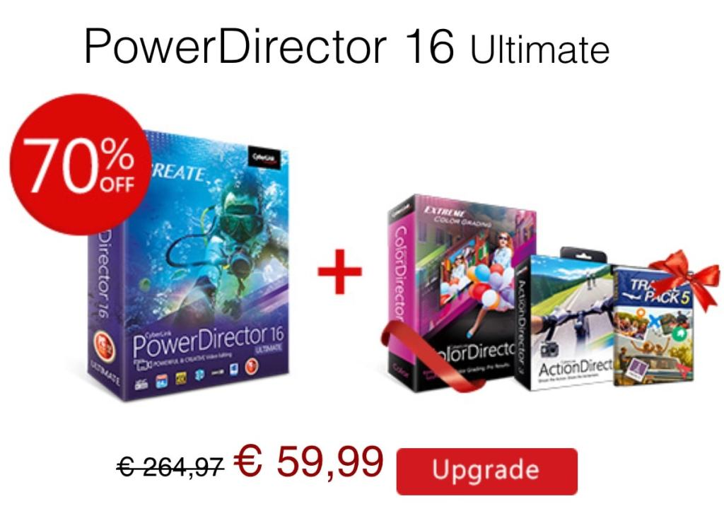 PowerDirector 16 ultimate de Cyberlink en oferta en el Black Friday 2017