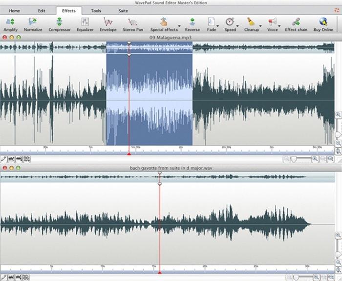 Programa para editar audio:WavePad Audio Editing Software