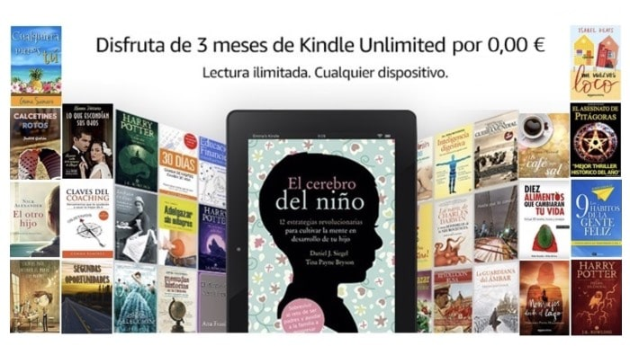 Consigue 3 meses gratuitos a Kindle Unlimited: ebooks gratis en tu Kindle