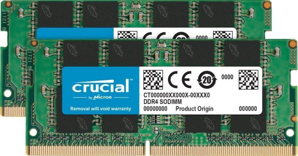 Crucial CT2K8G4SFS824A Kit de Memoria RAM de 16 GB (8 GB x 2, DDR4, 2400 MT/s, PC4-19200, Single Rank x 8, SODIMM, 260-Pin)