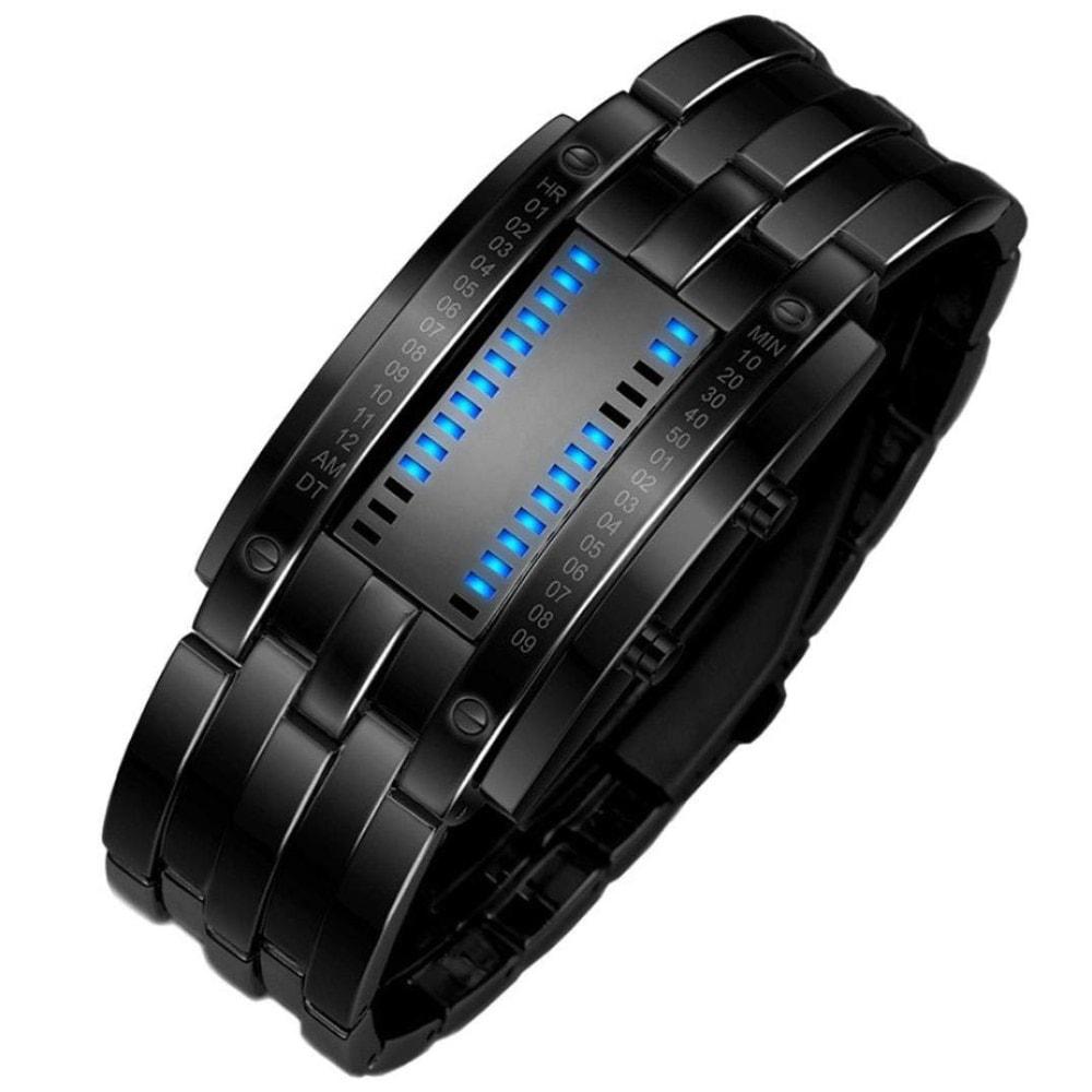 Reloj binario LED de acero inoxidable de Hanyixue