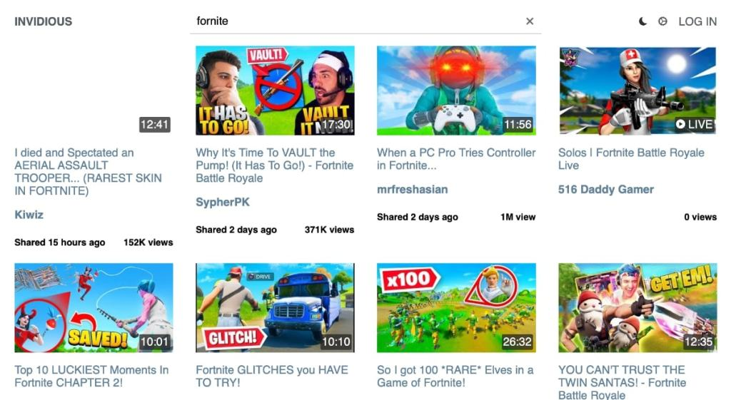 Alternativas a Youtube: Invidious