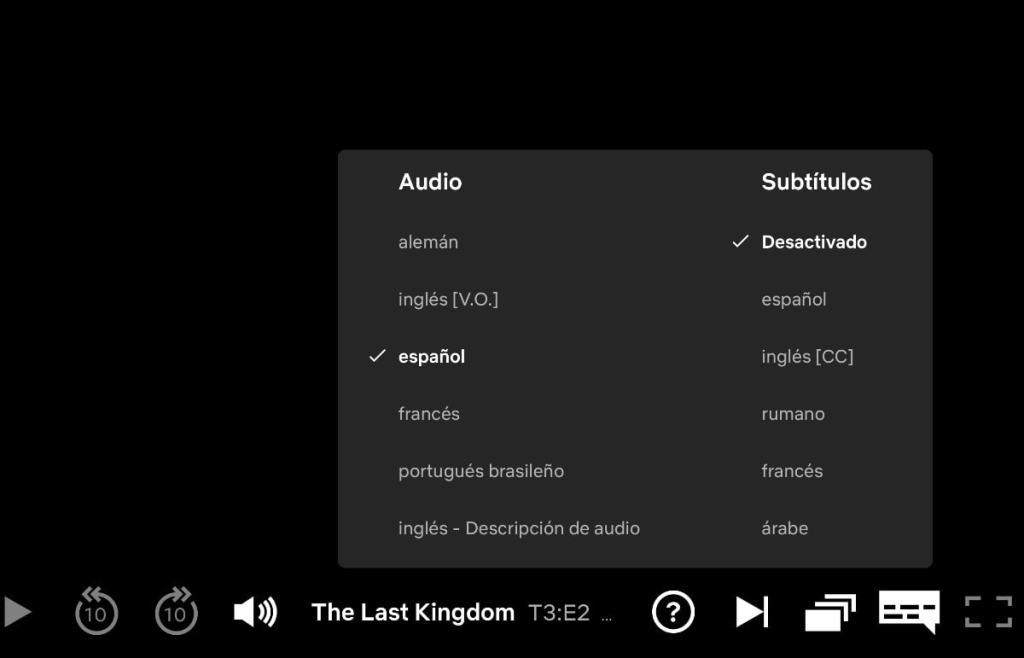 audio y subtitulos en netflix