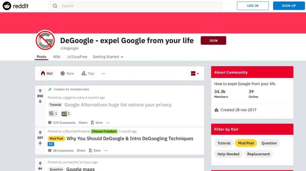 DeGoogle - expel Google from your life