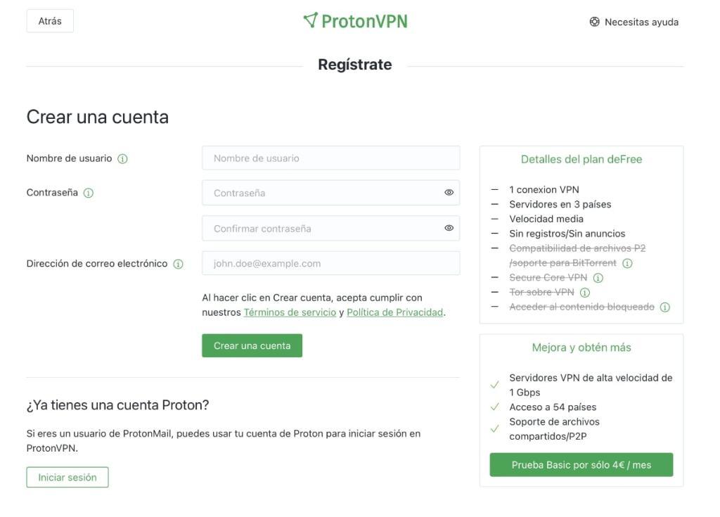 ProtonVPN: proceso de alta y aplicaciones