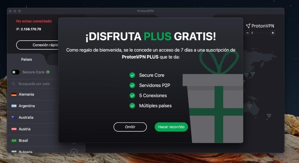 ProtonVPN: aplicaciones y prueba gratuita
