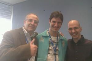 Foto con Fernando Navarro y José de la Riva