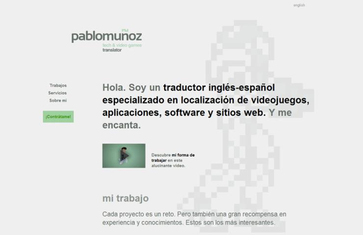 Página web del traductor Pablo Muñoz