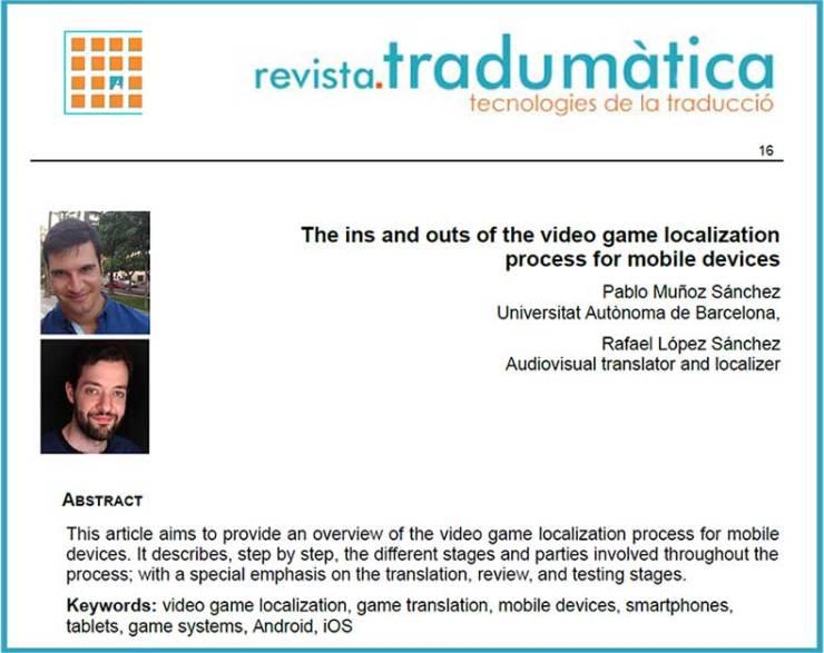 Los entresijos del proceso de localización de videojuegos para dispositivos móviles