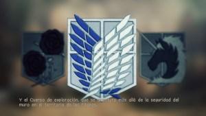 Y el Cuerpo de exploración, que se aventura más allá de la seguridad del muro en el territorio de los titanes.