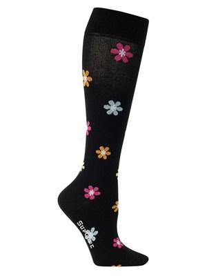 chaussette fleurs