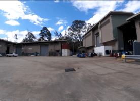 A static image of a commercial loading bay.