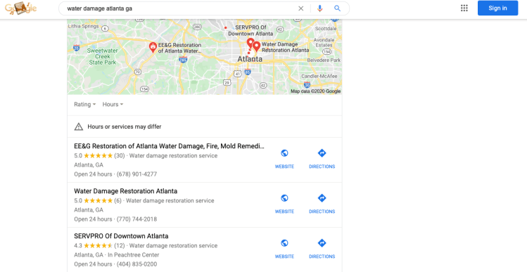 Local SEO keyword search