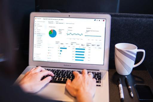google analytics screen on comupter