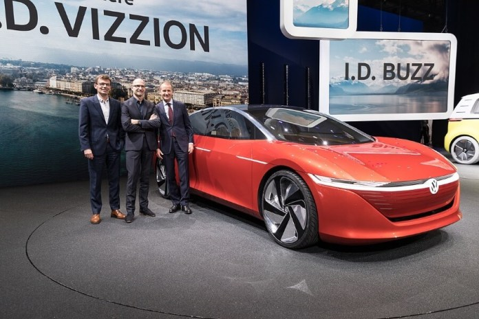 Volkswagen's self driving car model Vizzion