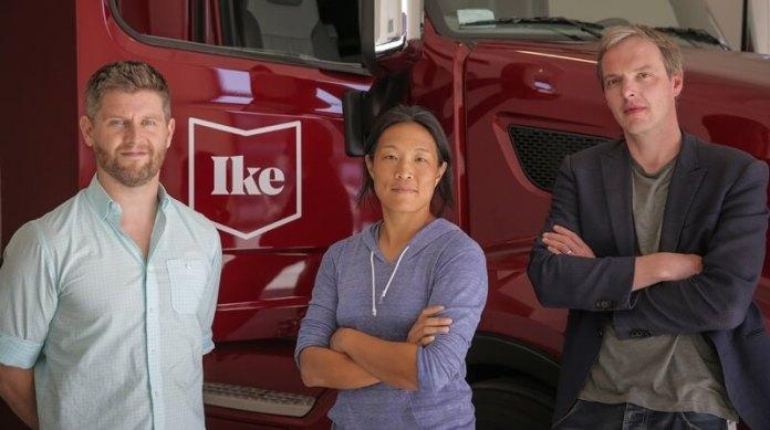 Ike Self Driving Truck Raises $52 Million. Ike co-founders Woodrow, Sun and van den Berg