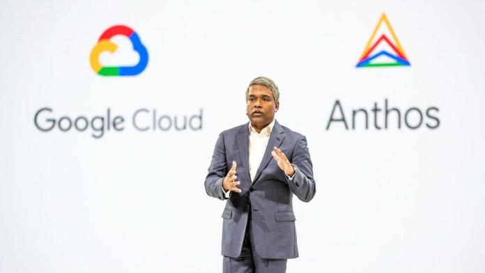 Google AI platform CEO Thomas Kurian at 2019 Cloud Next conference.
