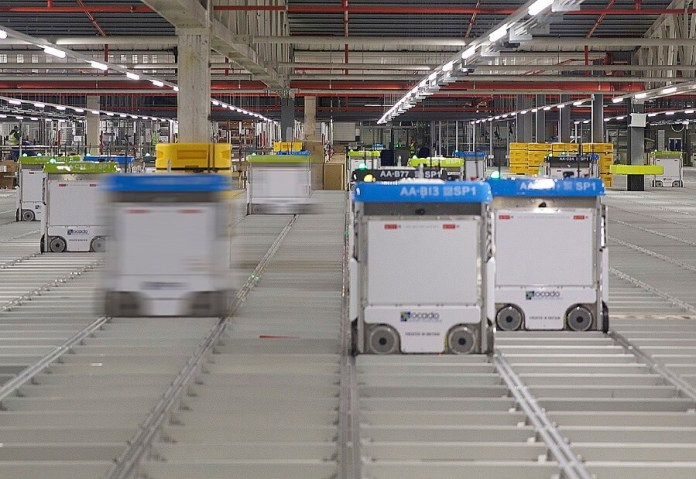 Ocado full utilises automation with its warehouse bots on show