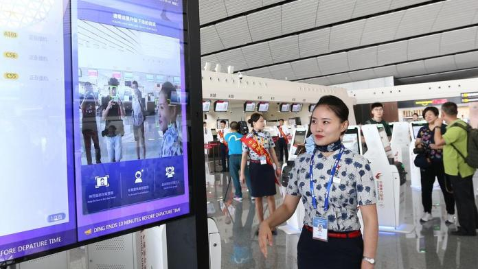 Beijing's New Airport Daxing will use advanced facial recognition software. Image Credit -China Daily