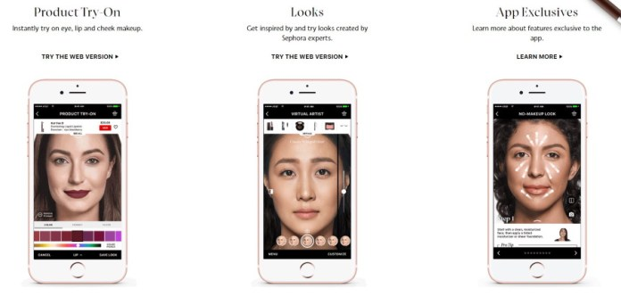 Sephora App makes use of computer vision to allow you try before you buy make up.