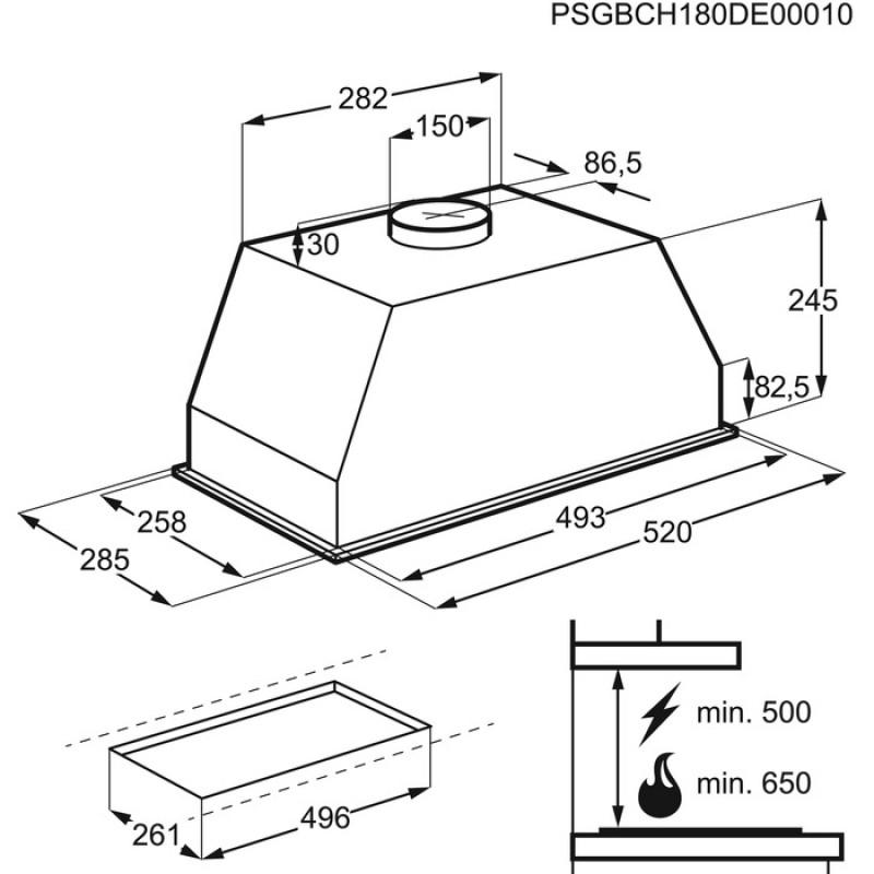 Вытяжка Electrolux LFG525K (LFG 525 K) купить выгодно