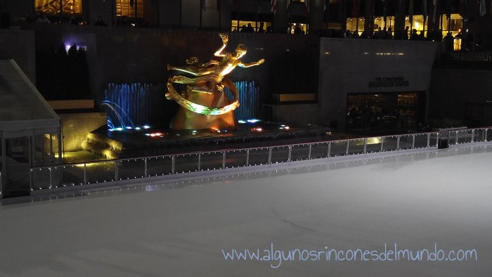 Pista de patinaje en Rockefeller Center