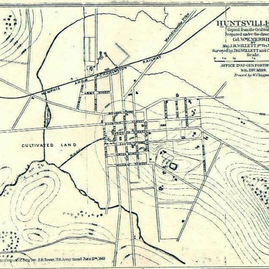 1865 Map of Huntsville