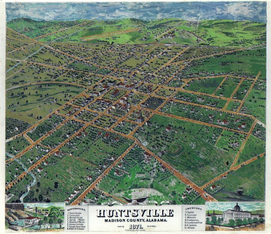 1871 Map of Huntsville