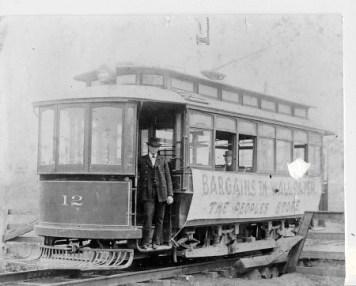 One of Huntsville's 1st street cars