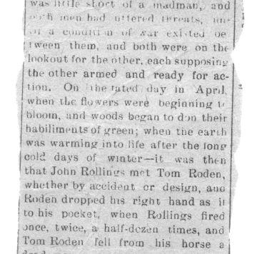 Trial of John Rollings