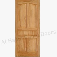 5 Panel Solid Wood Door Hpd104 - Solid Wood Doors - Al ...