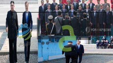 زعيم-كوريا-الشمالية-كيم-كونج-اون-ورئيس-كوريا-الجنوبية-مون-جيه-ان
