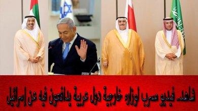 وزارء خارجية دول عربية يدافعون عن إسرائيل
