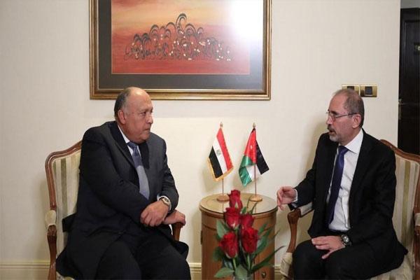 وزير الخارجية المصري مع نظيره الاردني مصر والاردن