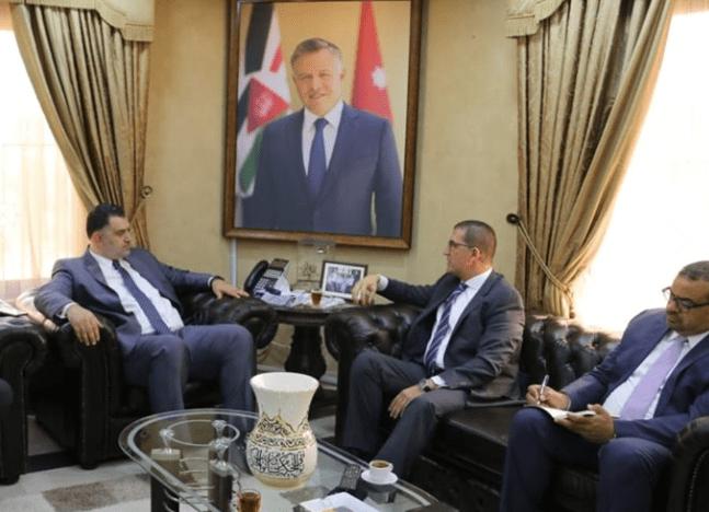 السفير المصري مع وزير العمل الأردني