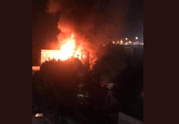 حريق كنيسة حلوان