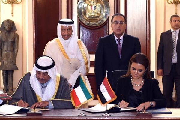 توقيع اتفاقية بين مصر والكويت