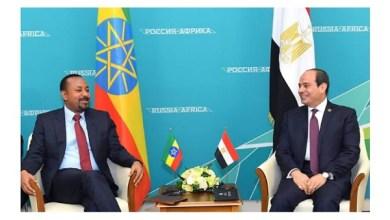 لقاء السيسي مع رئيس وزراء إثيوبيا
